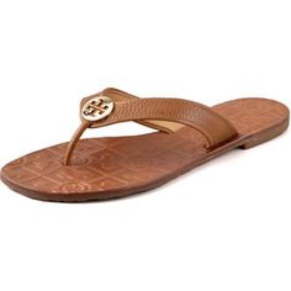7a1acd2d48b Tory Burch Thora Patent Thong Sandal. M 5aa183539d20f0422882e0b4